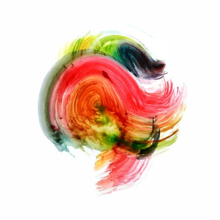 Abstract colorful watercolor background Illustration