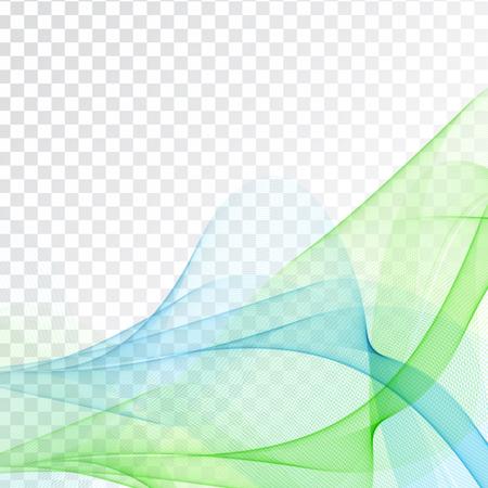 Abstract wave design on transparent background Ilustração