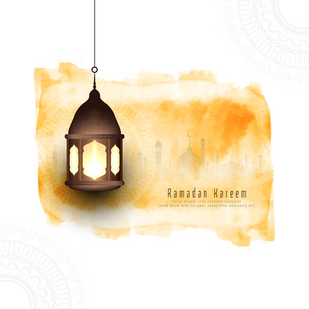 Abstract stylish Ramadan Kareem islamic background Illustration