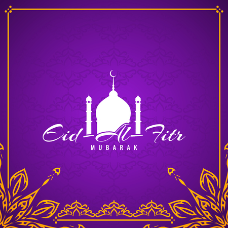 Abstract Eid Al Fitr Mubarak elegant background