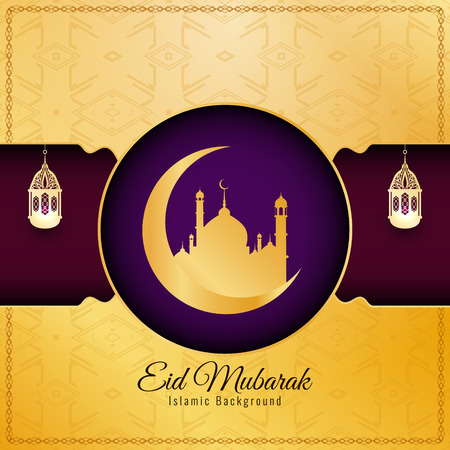Abstract elegant Eid Mubarak decorative background Illustration