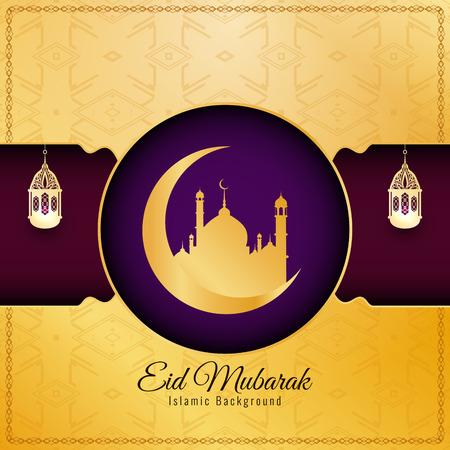 Abstract elegant Eid Mubarak decorative background Illustration