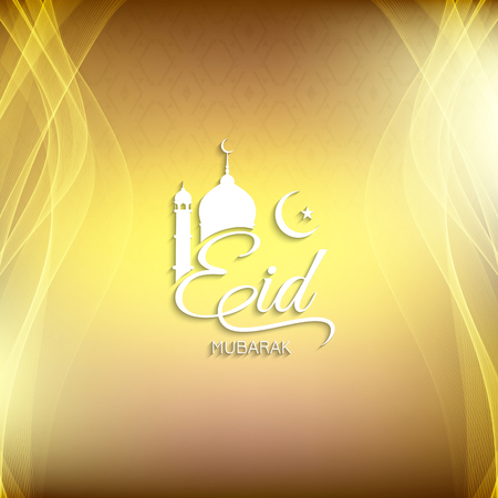 Abstract Eid Mubarak artistic background design