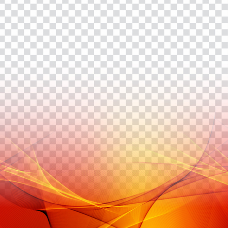 Abstract colorful wave transparent modern background