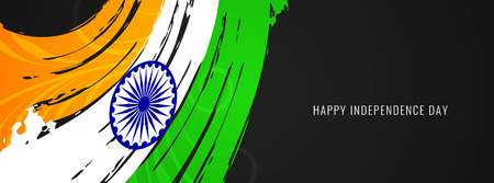 Abstract Indian flag theme banner design vector