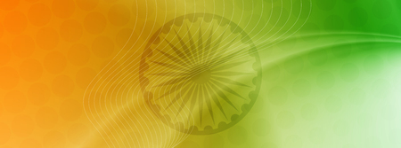 Abstract Indian flag theme elegant banner design