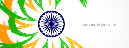 Abstract modern Indian flag theme banner template design