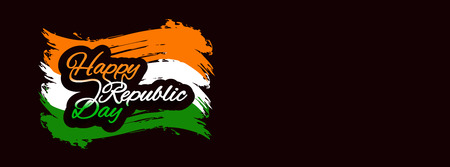 Abstract Indian flag theme elegant banner design