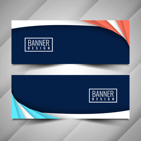 Abstract colorful modern banners set
