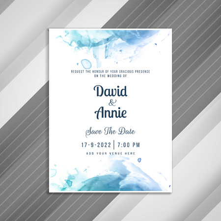 Abstract stylish wedding invitation card template