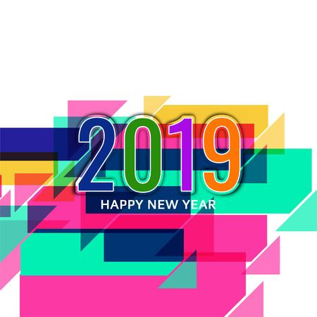 Abstract New Year 2019 beautiful background Vectores
