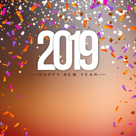 Abstract New Year 2019 celebration background Vectores