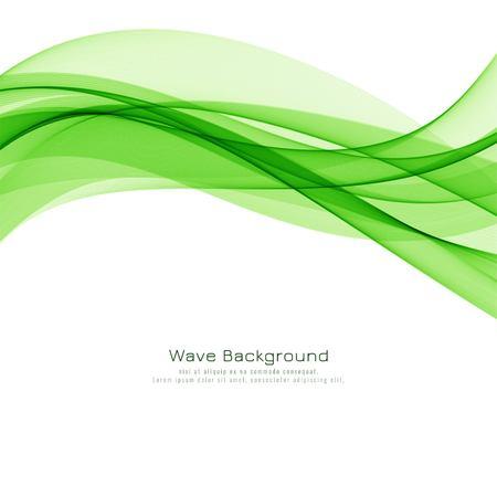 Abstract green wave modern background design Ilustração Vetorial