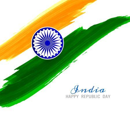 Beautiful Indian Flag theme vector background Ilustracja