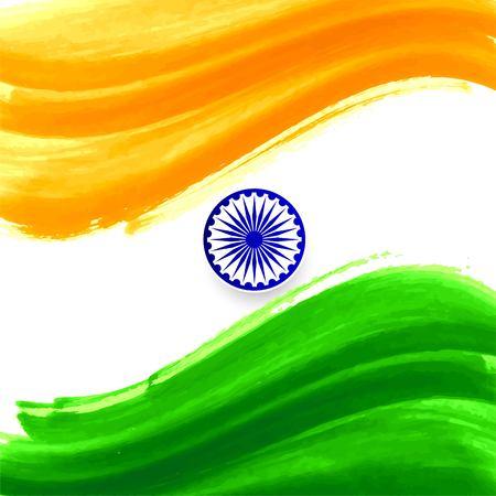 Modern Indian Flag theme decorative background Illustration