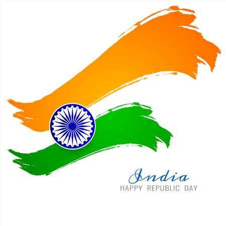Beautiful Indian Flag theme vector background Illustration