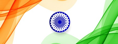 Indian Flag theme stylish banner vector Illustration