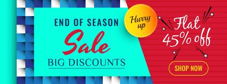 Abstract colorful sale banner template Illustration