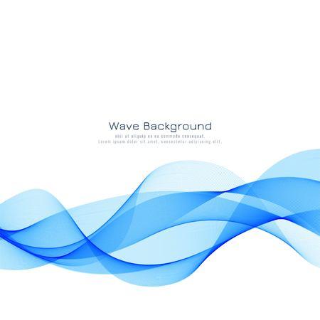 Abstract stylish blue wave background Ilustração Vetorial
