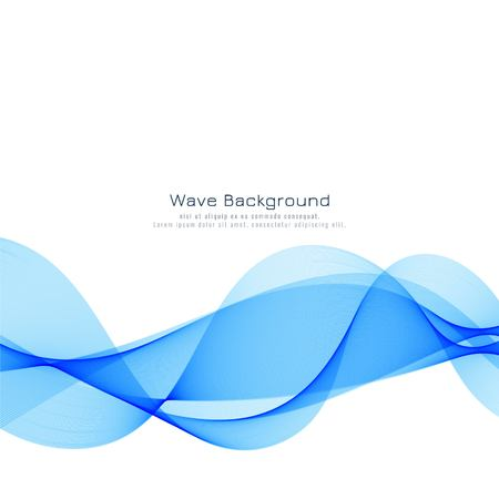Elegante sfondo moderno onda blu Vettoriali