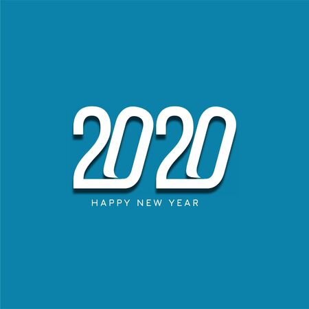 New year 2020 modern background design vector Çizim