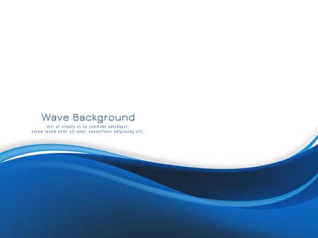 Modern blue wave design background vector Ilustración de vector