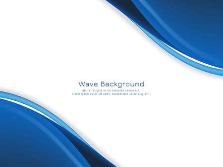 Modern blue wave concept background vector