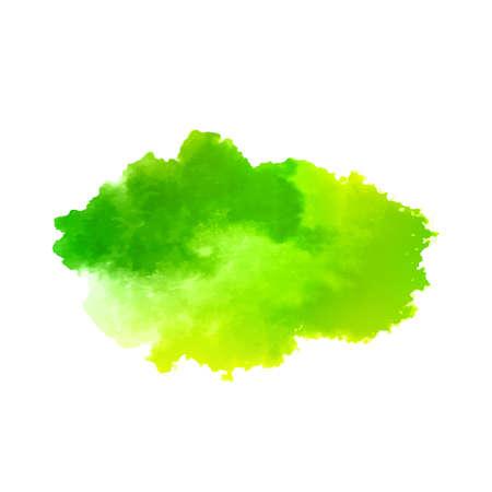 Green watercolor modern splash design background vector