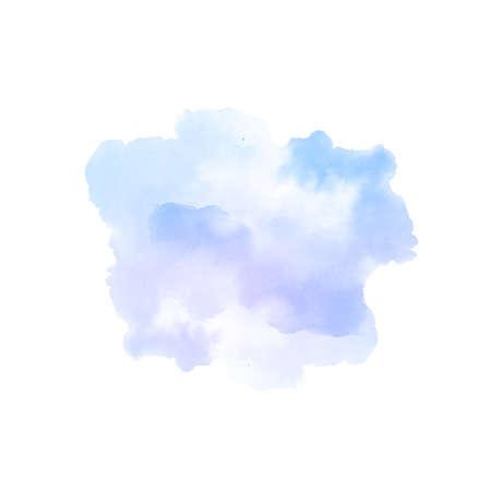 Soft violet watercolor splash stain design background vector 向量圖像
