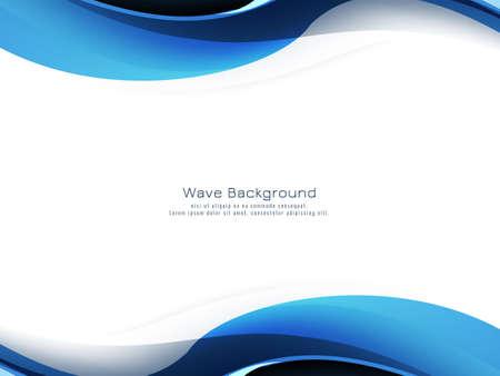 Beautiful blue wave modern decorative background vector Vector Illustratie