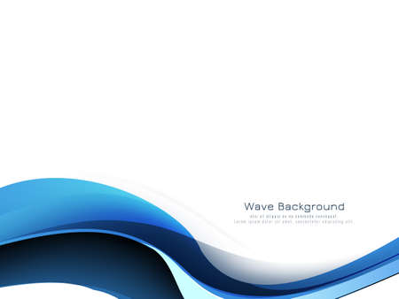 Beautiful blue wave modern decorative background vector Vektorgrafik
