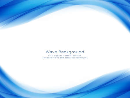 Abstract stylish blue wave background vector