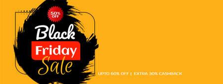 Flat design banner for Black friday sale vector