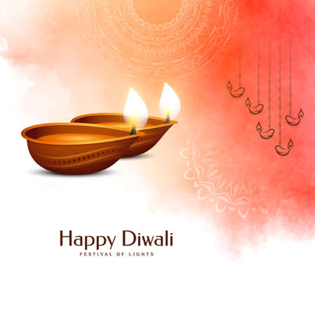 Decorative Happy Diwali festival greeting background vector