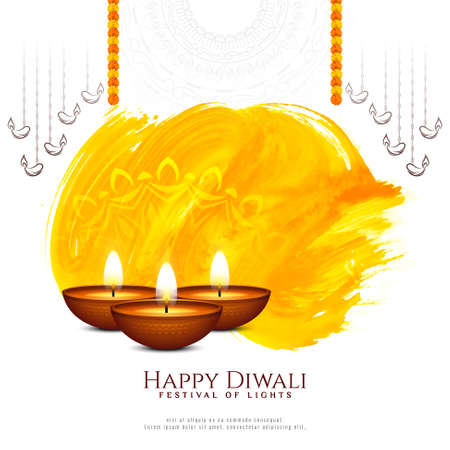 Elegant Happy Diwali Indian festival beautiful background vector