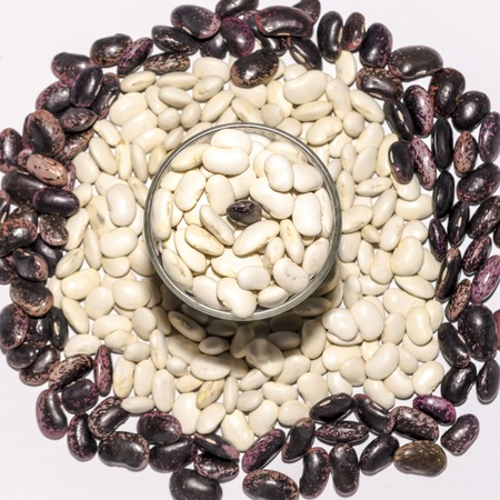 pinto bean: Beans in the cup on white isolated background