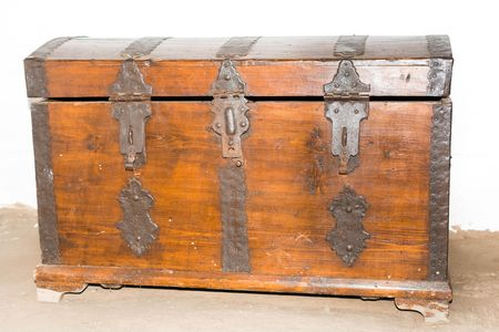 An old wooden chest in the room