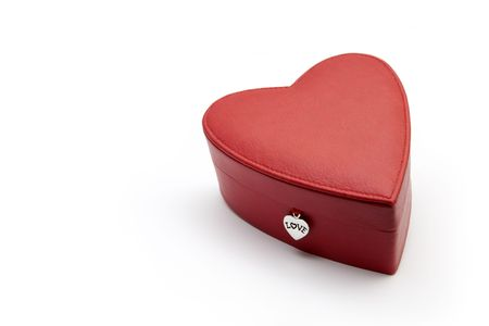 A heart shaped red gift box, for lovers and any kind of occasions.