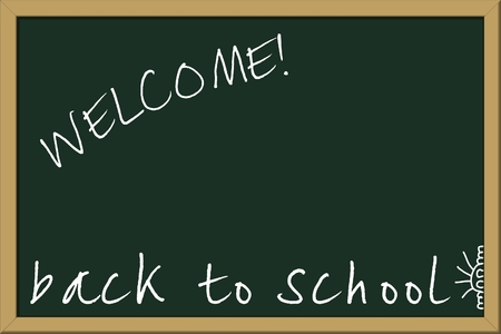 Chalkboard, with Back to school message