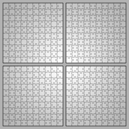 Four different types of editable puzzle templates.