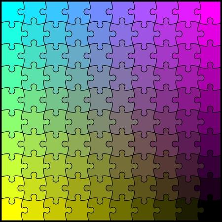 blending: CMYK blending puzzle board.