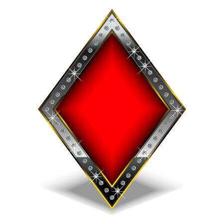 forme: symbole de diamant dans un cadre de luxe et beaucoup de diamants.