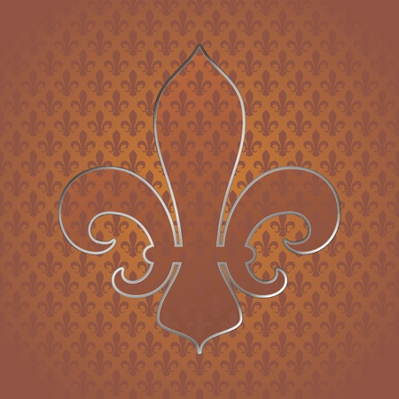 Fleur de lys symbol in seamless tileable background and texture. Vector