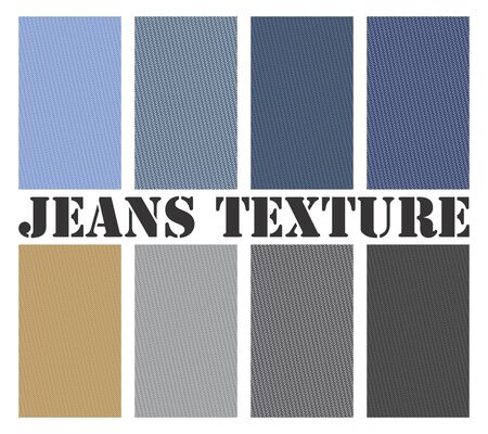Seamless vector texture for multiple jeans type. All types are scalable vector formats.