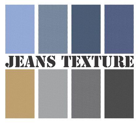 Vectorielle continue texture pour plusieurs type de jeans. Tous les types sont des formats vectoriels évolutifs. Vecteurs