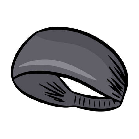 Sports hair band for fitness classes. Vector illustration isolated on a white background.