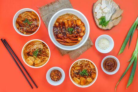 A set of Korean food is served warm.