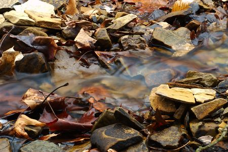 small stream moving water Stock fotó