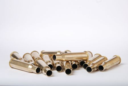 artillery shell: Shell Casings Stock Photo