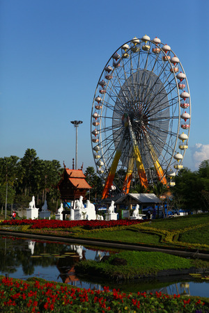 Ferris Wheel in Park photo